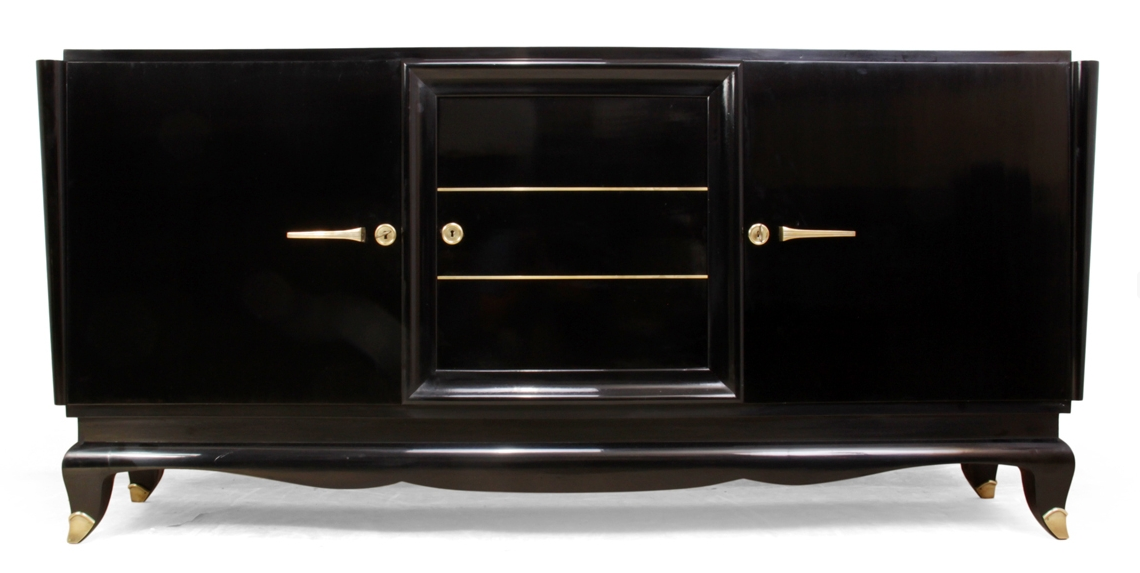 French art deco black sideboard