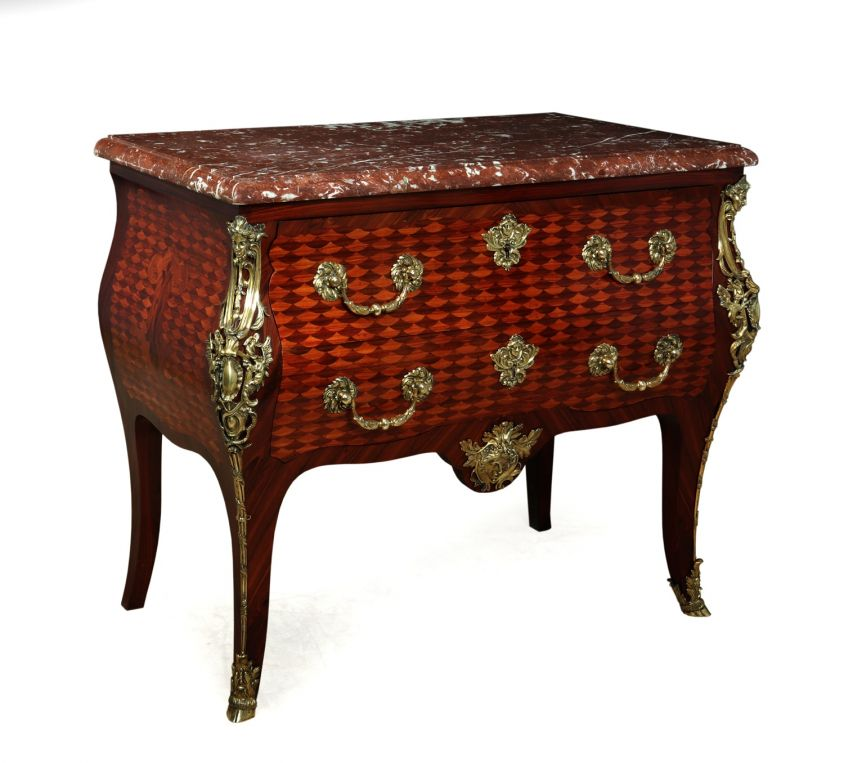 French Antique Commode with gilt Bronze Ormolu c1860