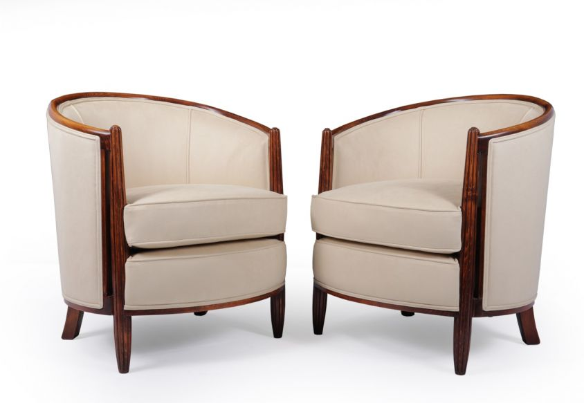 A Pair of French Art Deco Armchairs c1930