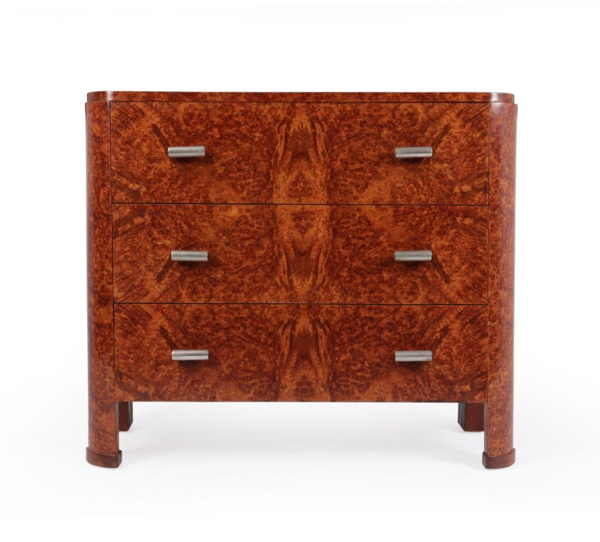 Art Deco Chest of Drawers in Amboyna c1920