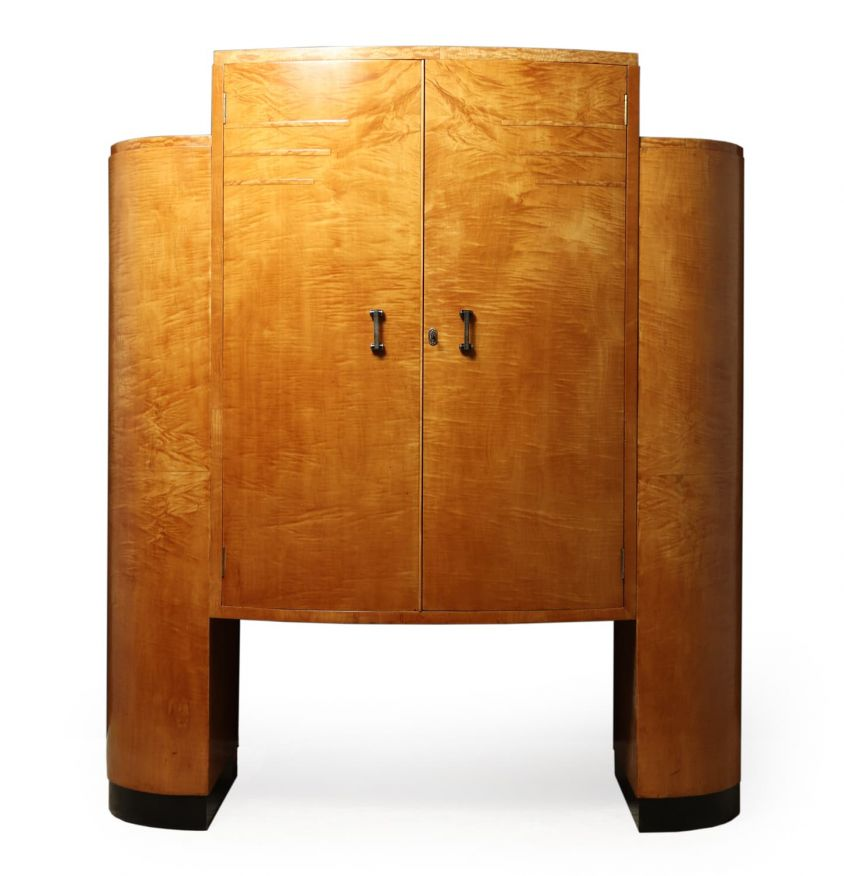Art Deco Cocktail Cabinet in Sycamore c1930