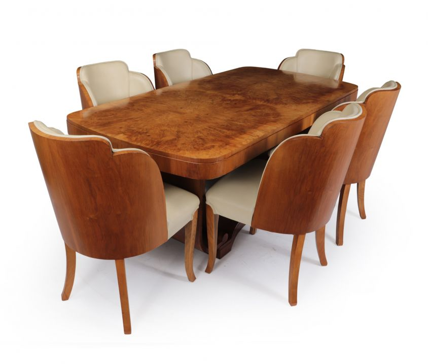 Art Deco Dining Table and Chairs by Epstein