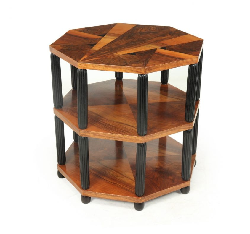 Art Deco Occasional Octagonal Table France c1920