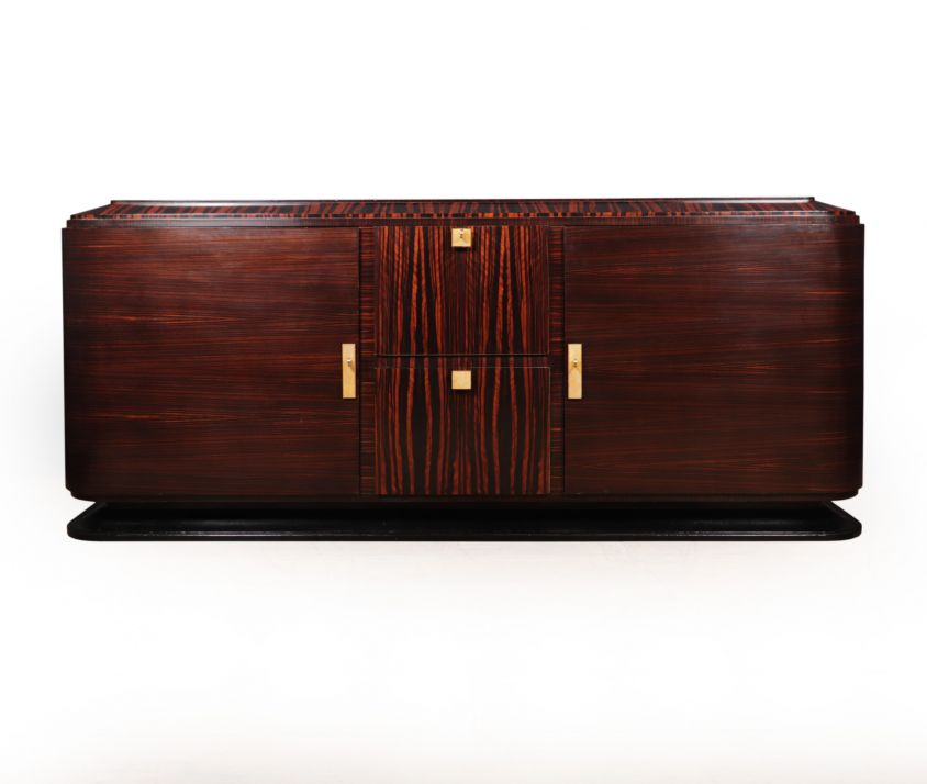 Art Deco Sideboard In Macassar with Shargreen Detail Paris 1925
