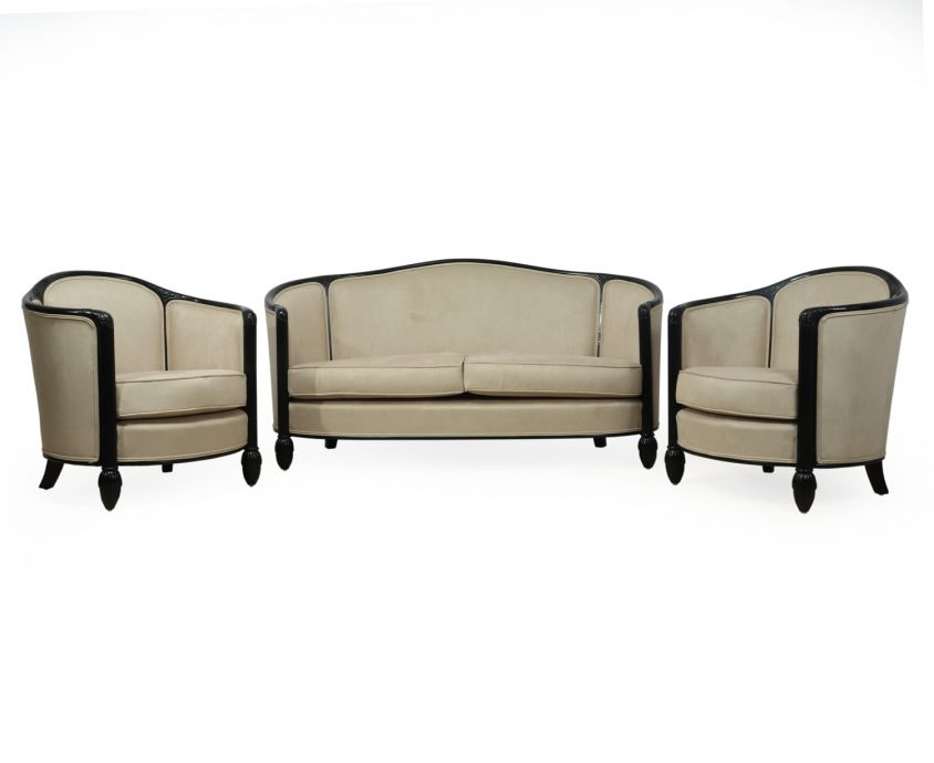 French Art Deco Chairs and Sofa by Paul Follot c1920