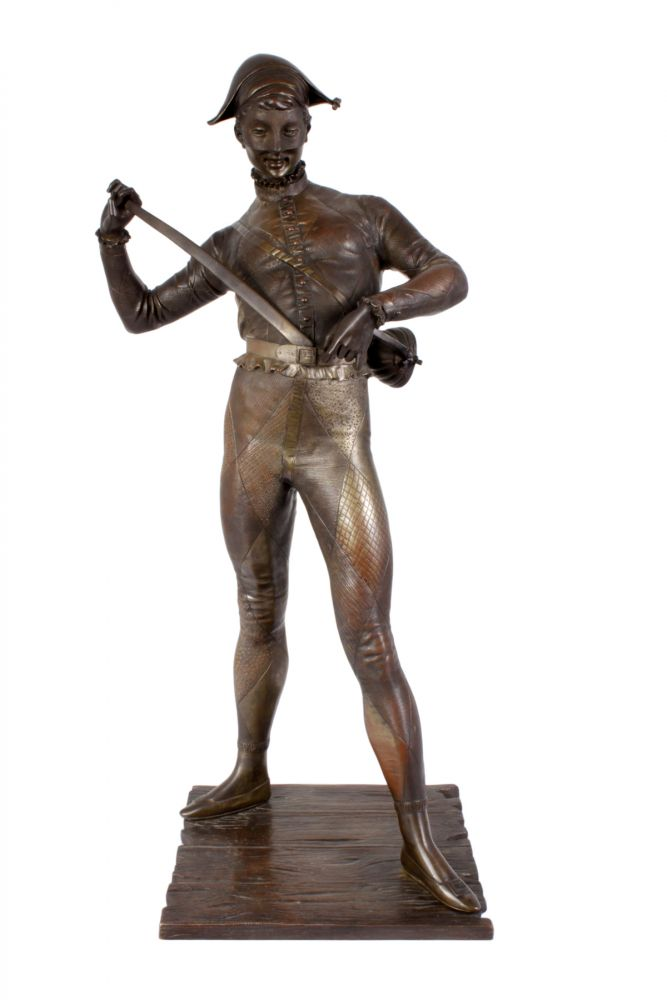 Bronze Harlequin by Paul Dubois France circa1880