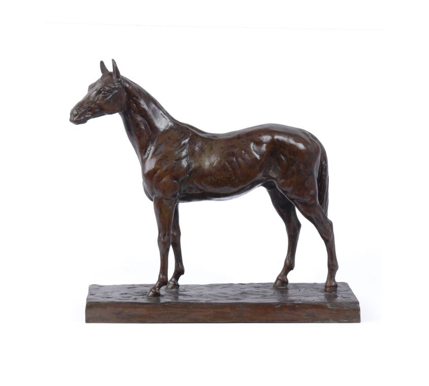 Bronze Horse Sculpture by Rene Papa c1930