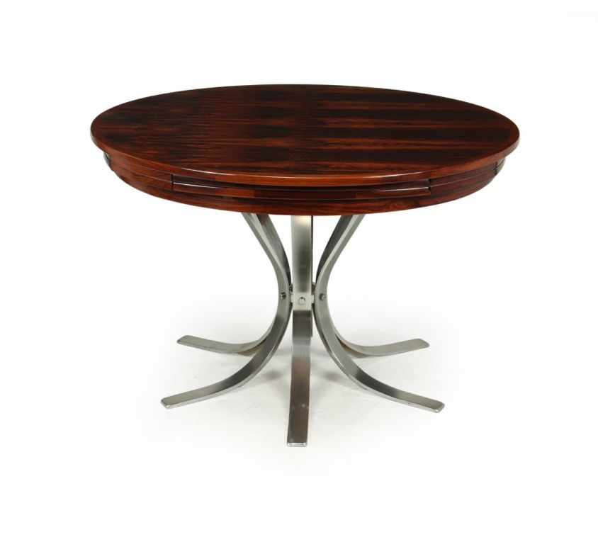 Mid century Modern Rosewood Flip Flap Lotus Dining Table by Dyrlund