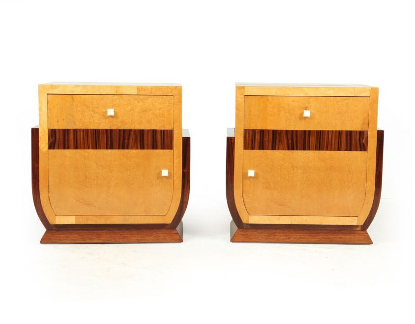 French art Deco Bedside Cabinets c1930