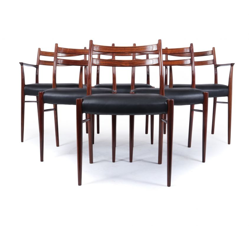 Mid Century Dining Chairs by Arne Wahl Iversen for Glyngøre Stolefabrik