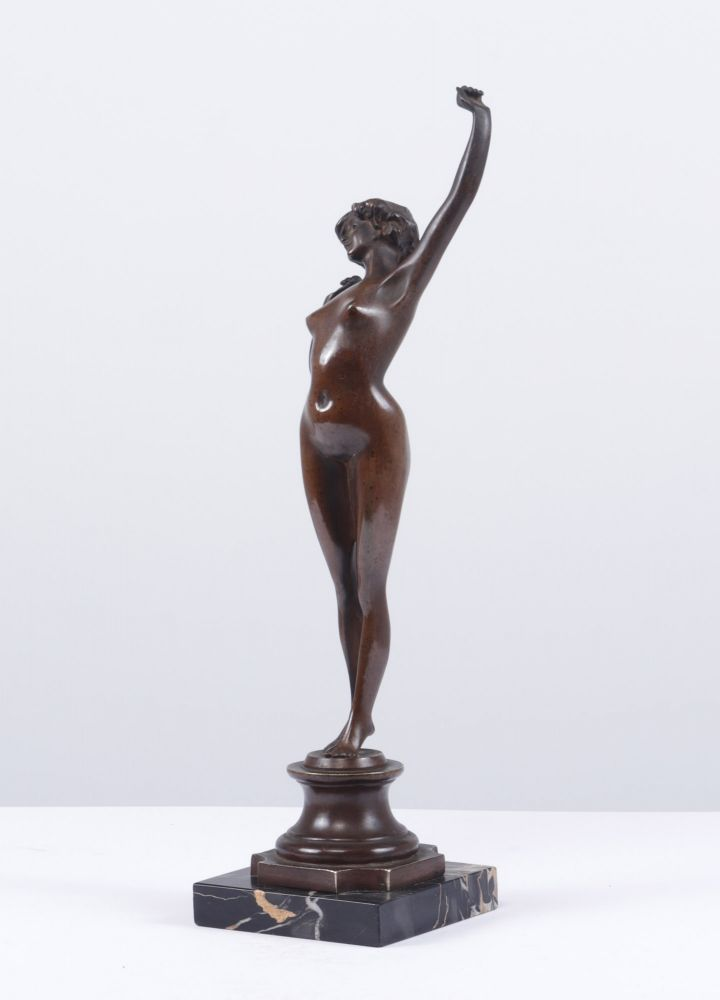 "Art Deco Bronze Sculpture "" The Awakening"" by Paul Philipe c1920"