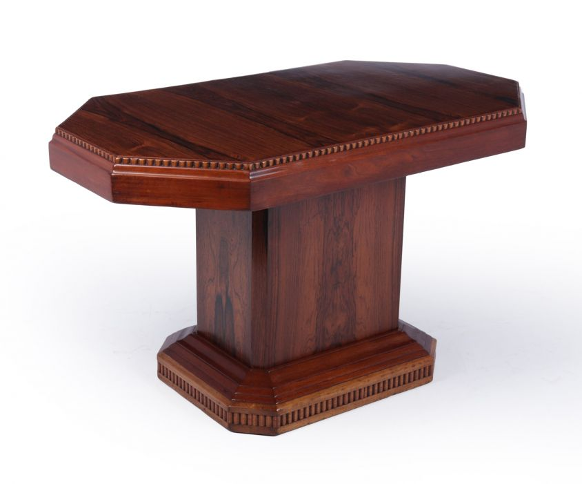 French Art Deco Rosewood coffee Table c 1920