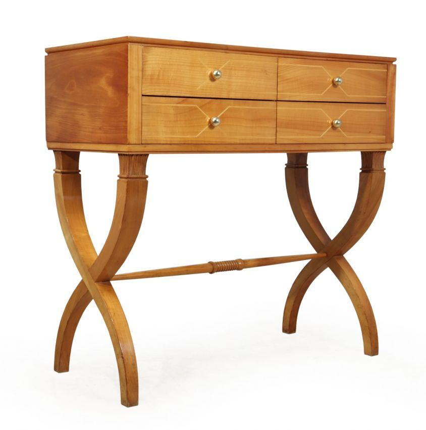 Mid Century Italian Commode in Solid Cherry