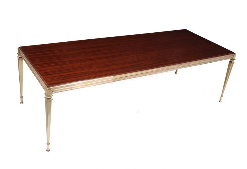 Mid Century Rosewood and Brass Coffee Table c1960
