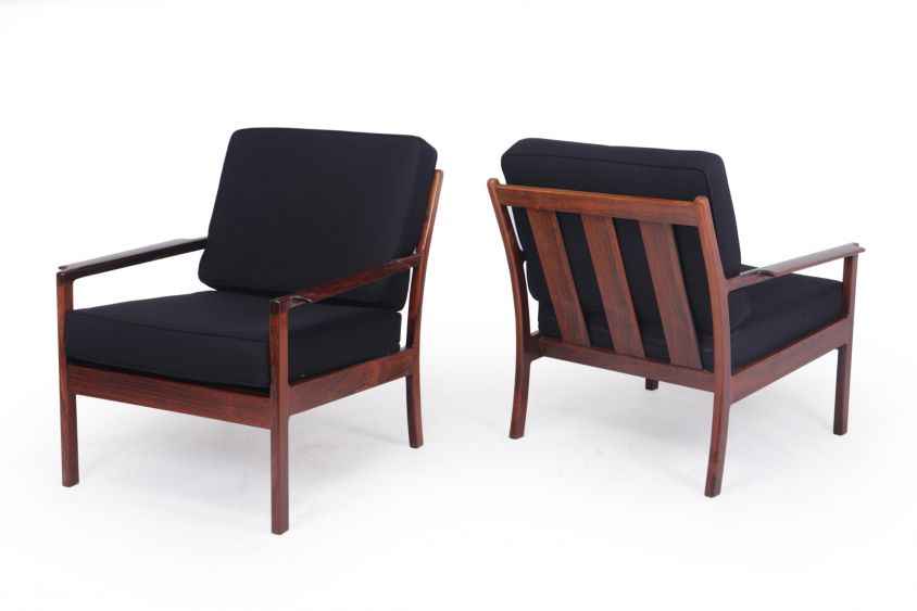 Pair of Mid Century Danish Rosewood Armchairs